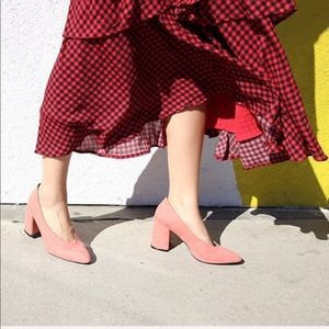 DUSTY ROSE SUEDE PUMPS- New With Box!